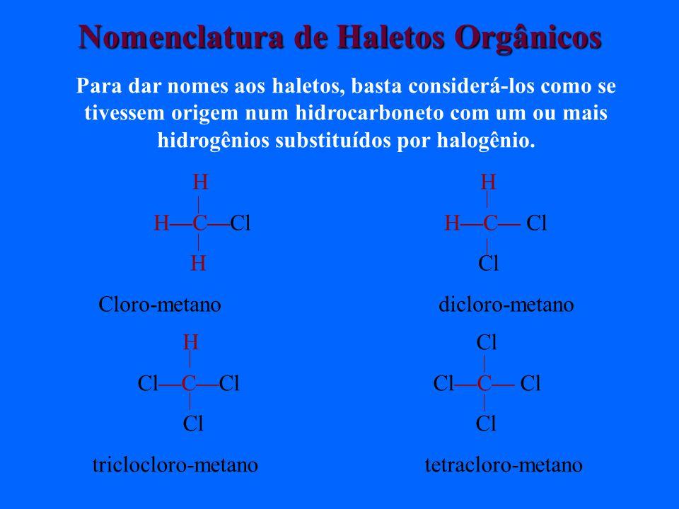 Nomenclatura de Haletos Orgânicos
