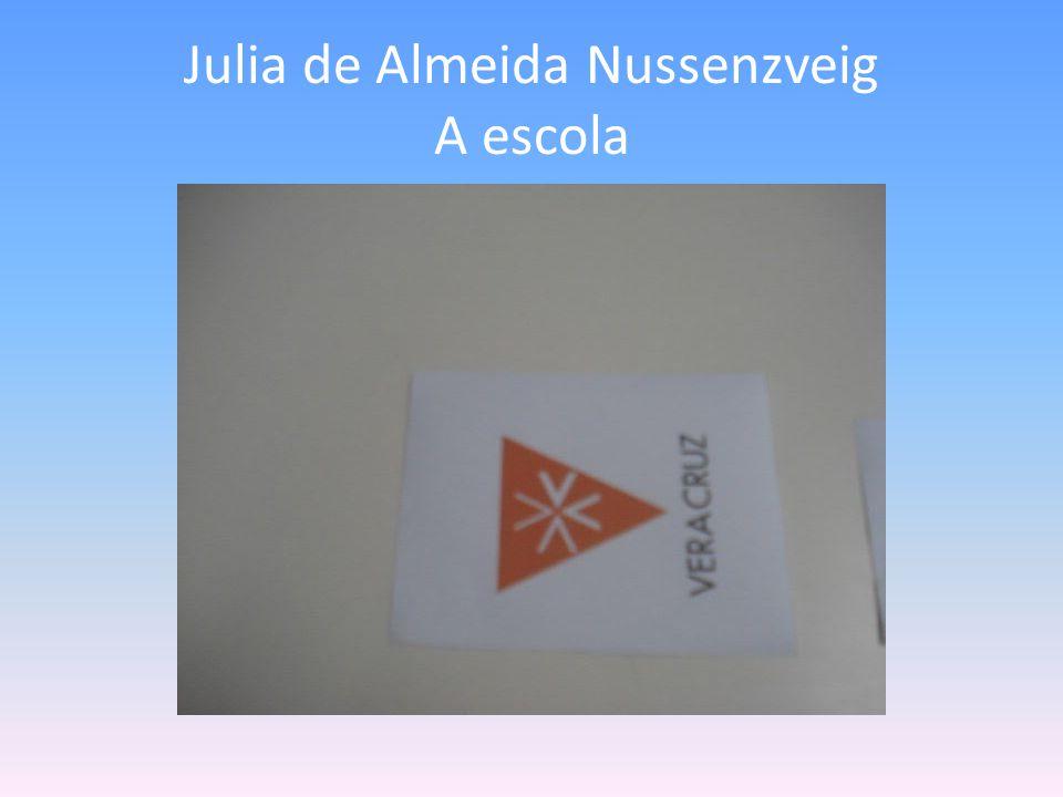 Julia de Almeida Nussenzveig A escola