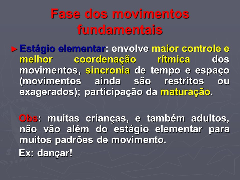 Fase dos movimentos fundamentais