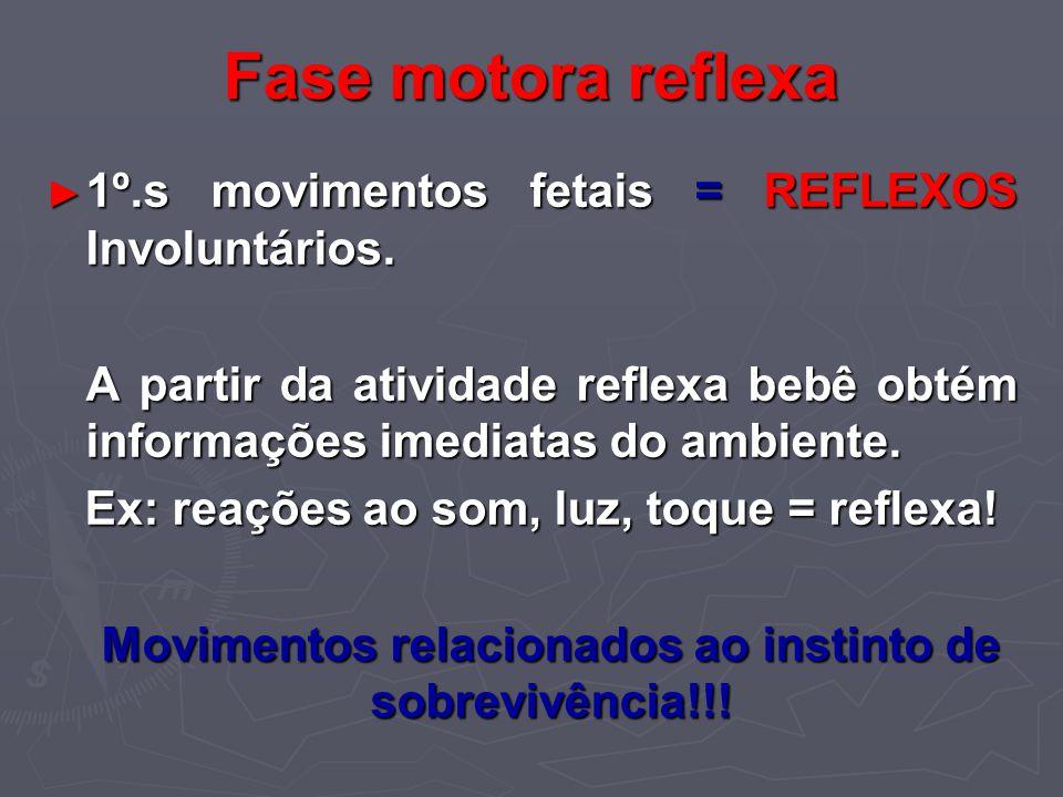 Movimentos relacionados ao instinto de sobrevivência!!!