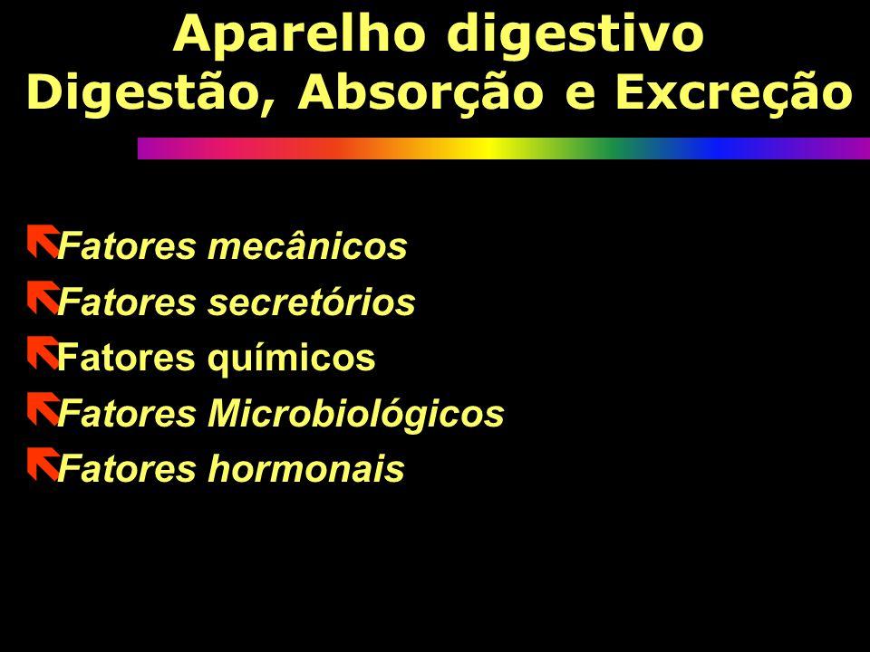 Aparelho digestivo Digestão, Absorção e Excreção