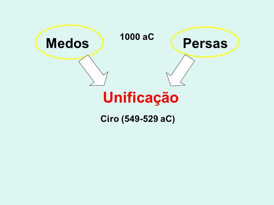 Medos Persas Unificação Ciro (549-529 aC) 1000 aC