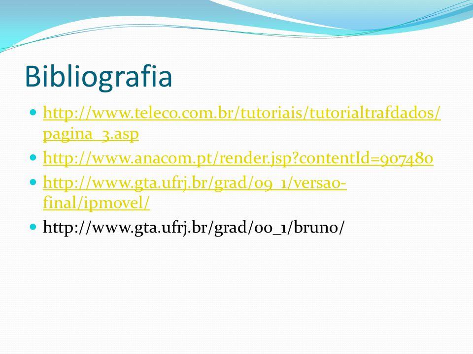 Bibliografia http://www.teleco.com.br/tutoriais/tutorialtrafdados/pagina_3.asp. http://www.anacom.pt/render.jsp contentId=907480.