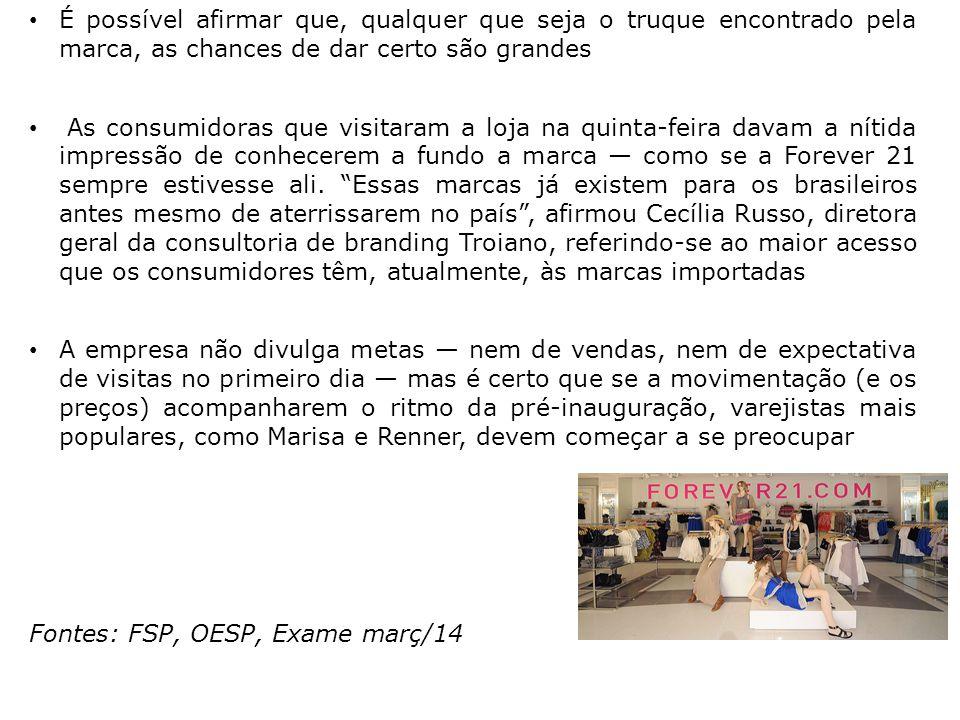 Fontes: FSP, OESP, Exame març/14
