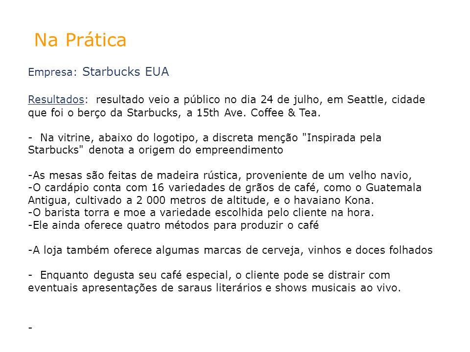 Na Prática Empresa: Starbucks EUA