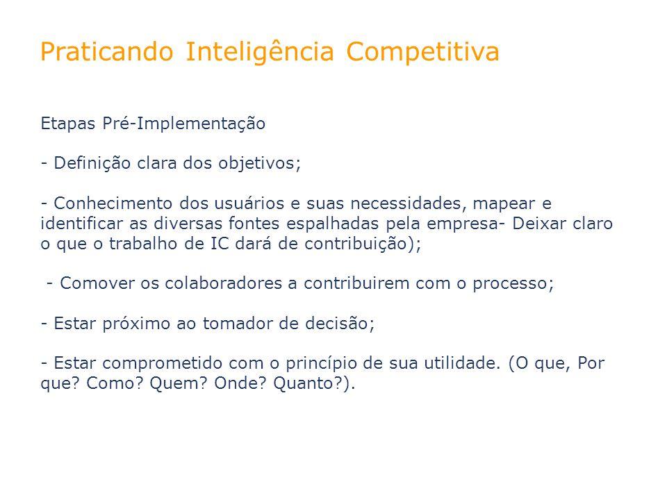 Praticando Inteligência Competitiva