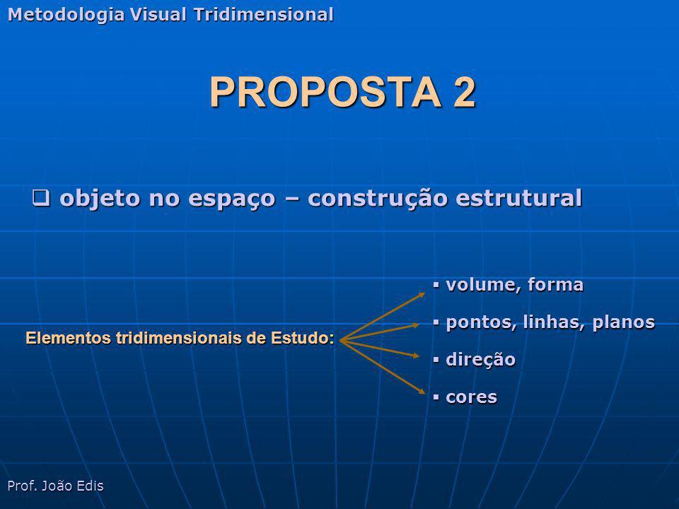 PROPOSTA 2 objeto no espaço – construção estrutural