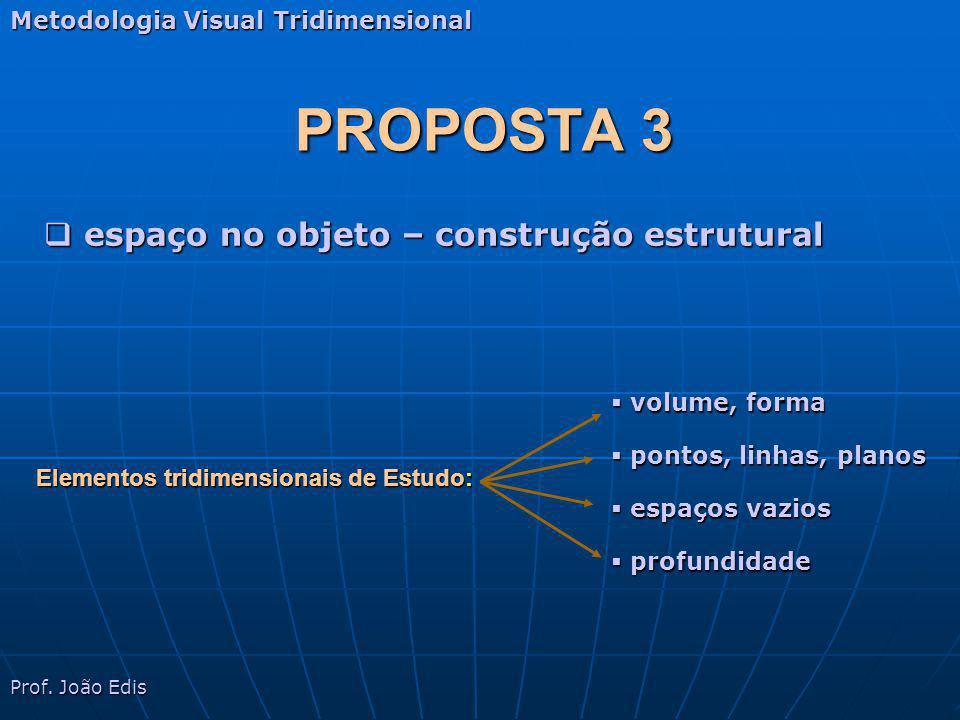 PROPOSTA 3 espaço no objeto – construção estrutural