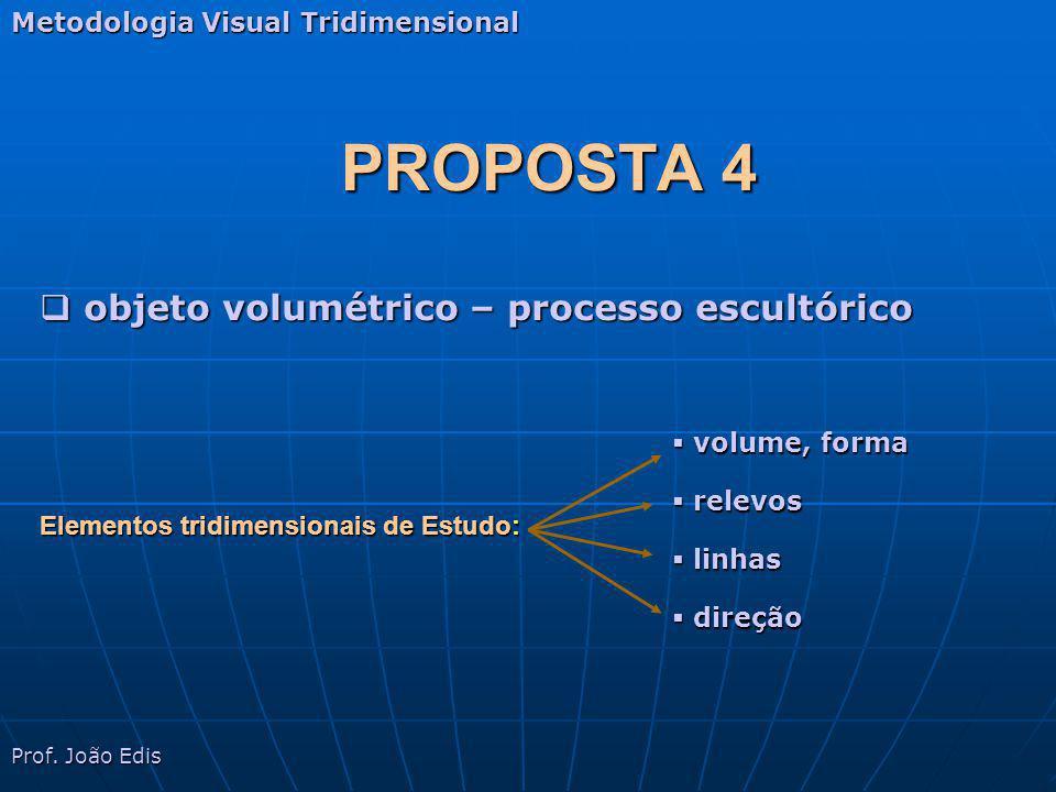 PROPOSTA 4 objeto volumétrico – processo escultórico