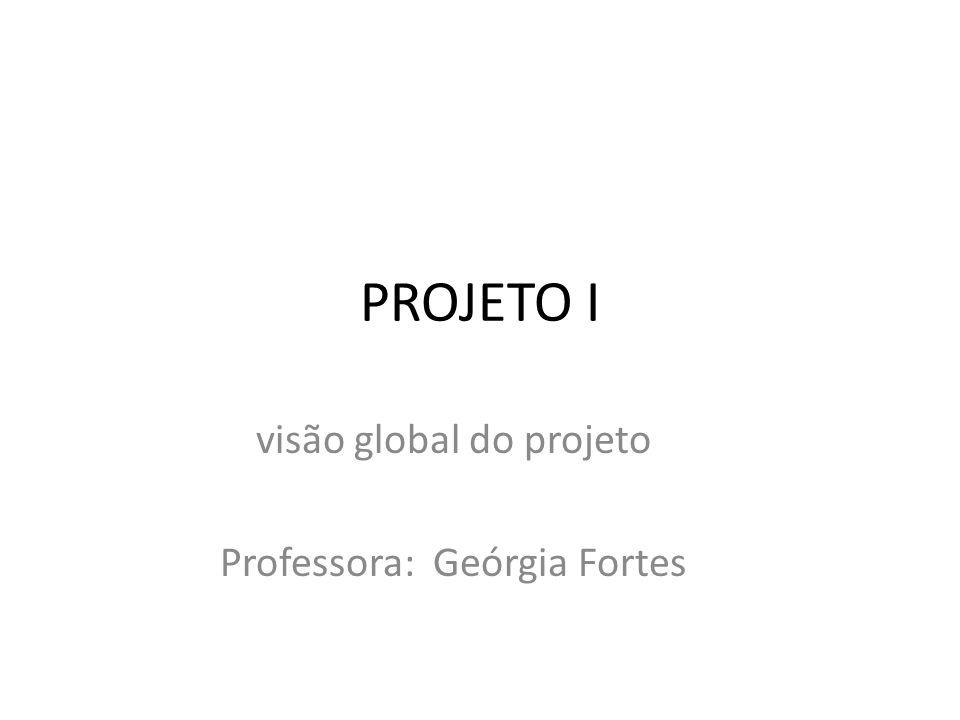 visão global do projeto Professora: Geórgia Fortes