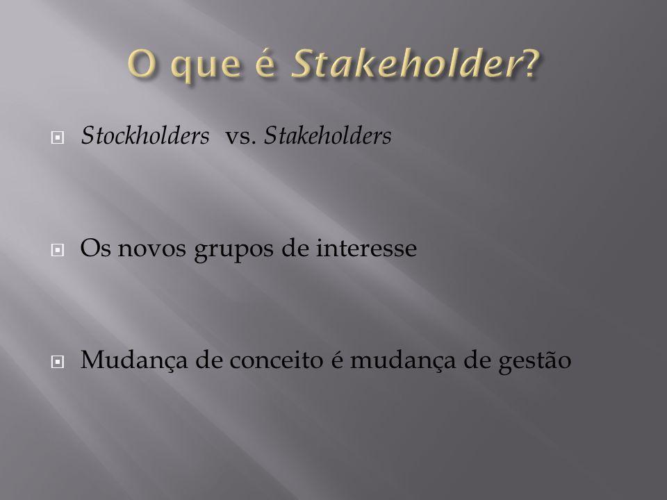 O que é Stakeholder Stockholders vs. Stakeholders