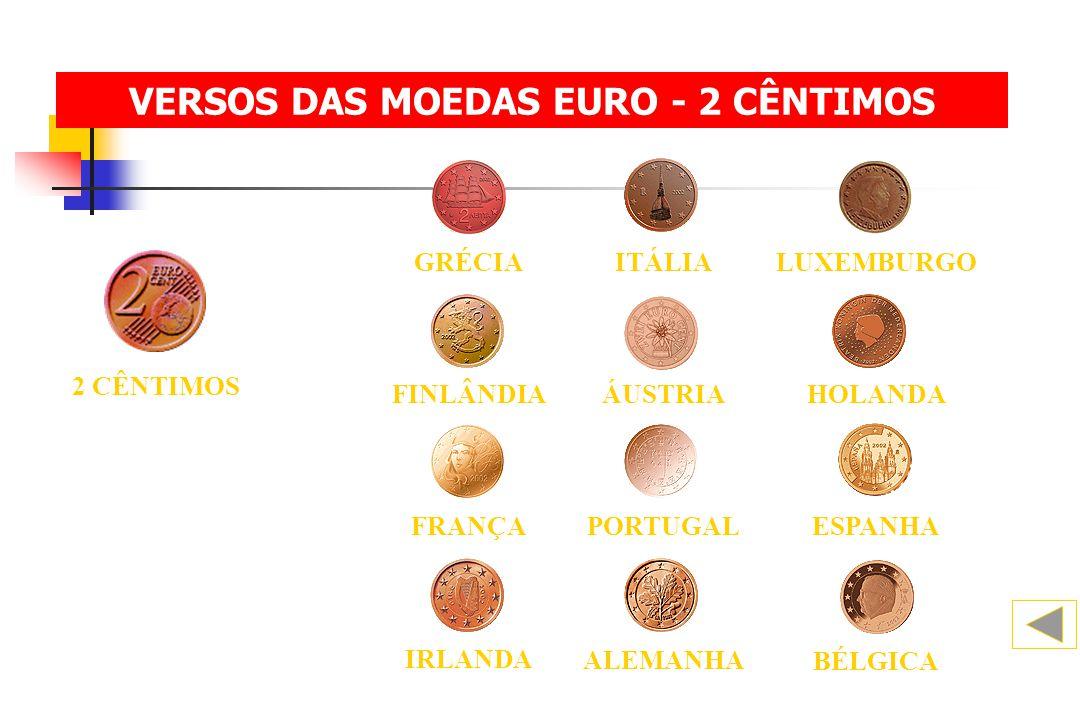 VERSOS DAS MOEDAS EURO - 2 CÊNTIMOS