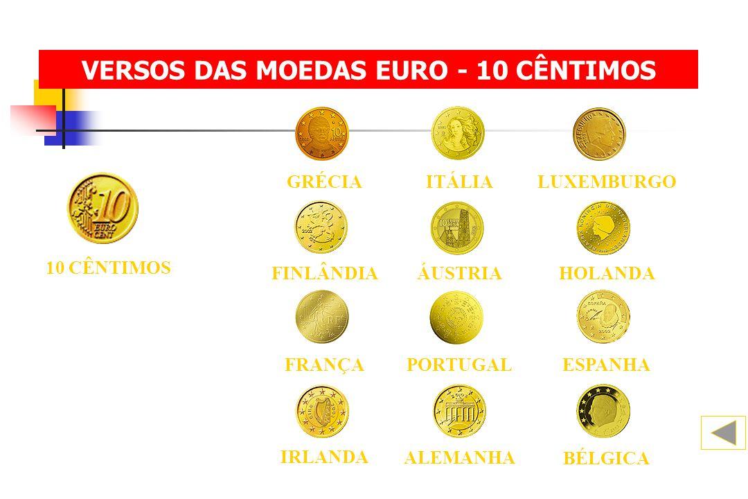 VERSOS DAS MOEDAS EURO - 10 CÊNTIMOS