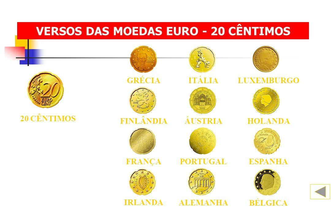 VERSOS DAS MOEDAS EURO - 20 CÊNTIMOS