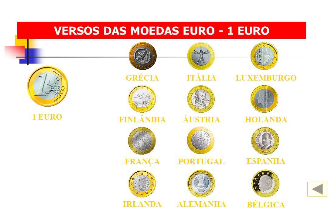VERSOS DAS MOEDAS EURO - 1 EURO