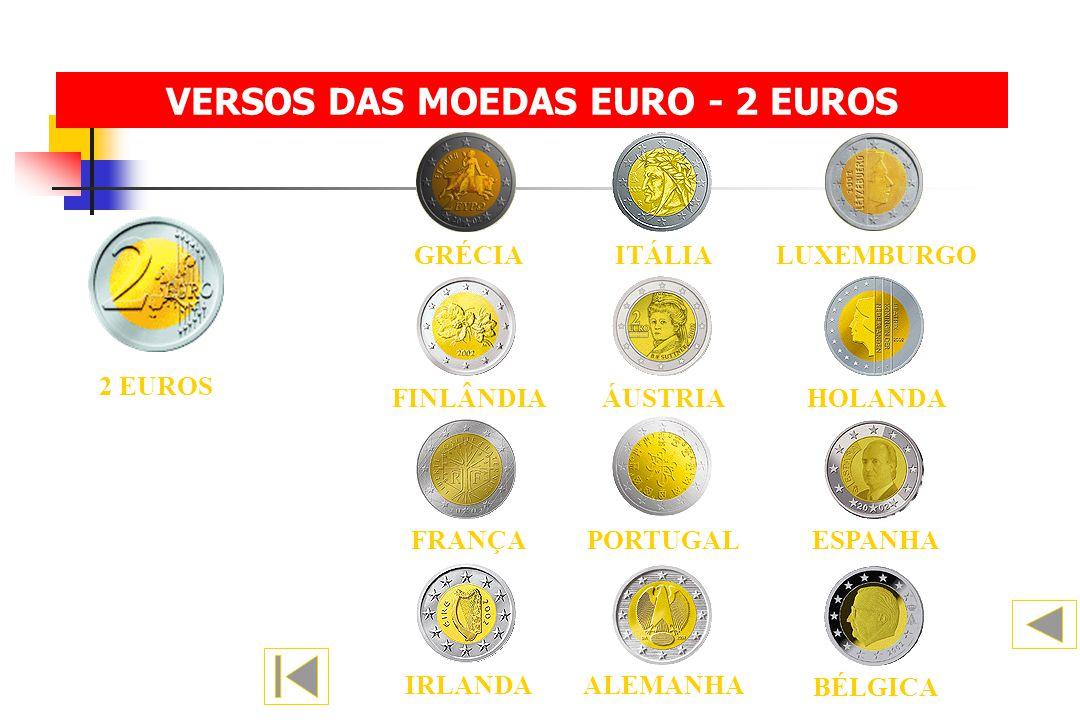 VERSOS DAS MOEDAS EURO - 2 EUROS