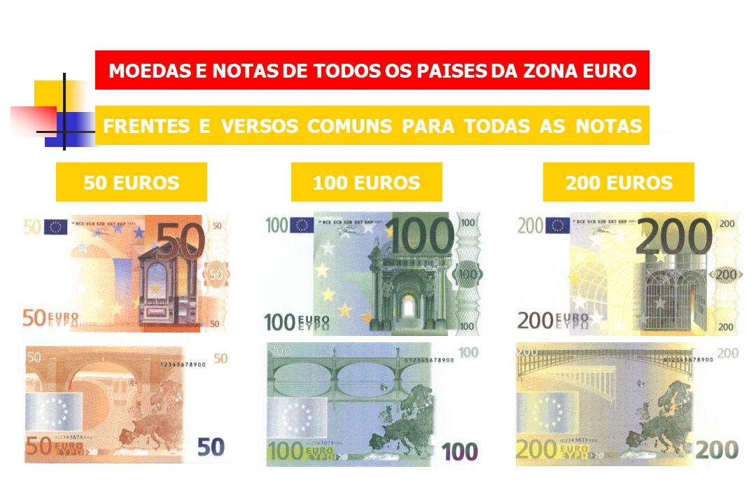 MOEDAS E NOTAS DE TODOS OS PAISES DA ZONA EURO