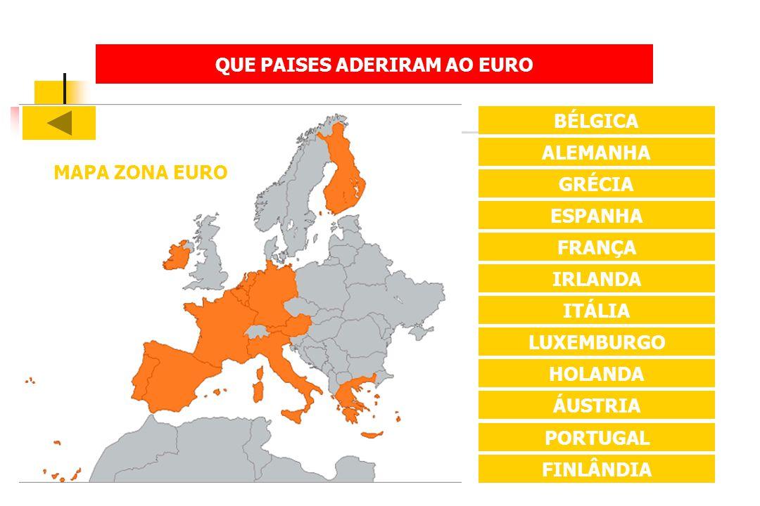 QUE PAISES ADERIRAM AO EURO