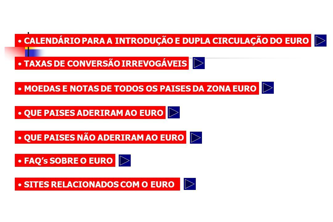 CALENDÁRIO PARA A INTRODUÇÃO E DUPLA CIRCULAÇÃO DO EURO