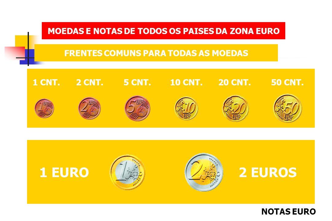 1 EURO 2 EUROS MOEDAS E NOTAS DE TODOS OS PAISES DA ZONA EURO