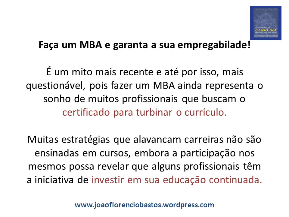 Faça um MBA e garanta a sua empregabilade