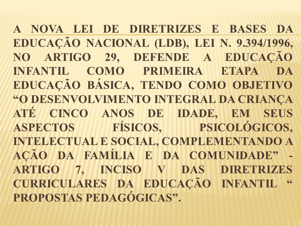 A nova Lei de Diretrizes e Bases da Educação Nacional (LDB), Lei n. 9