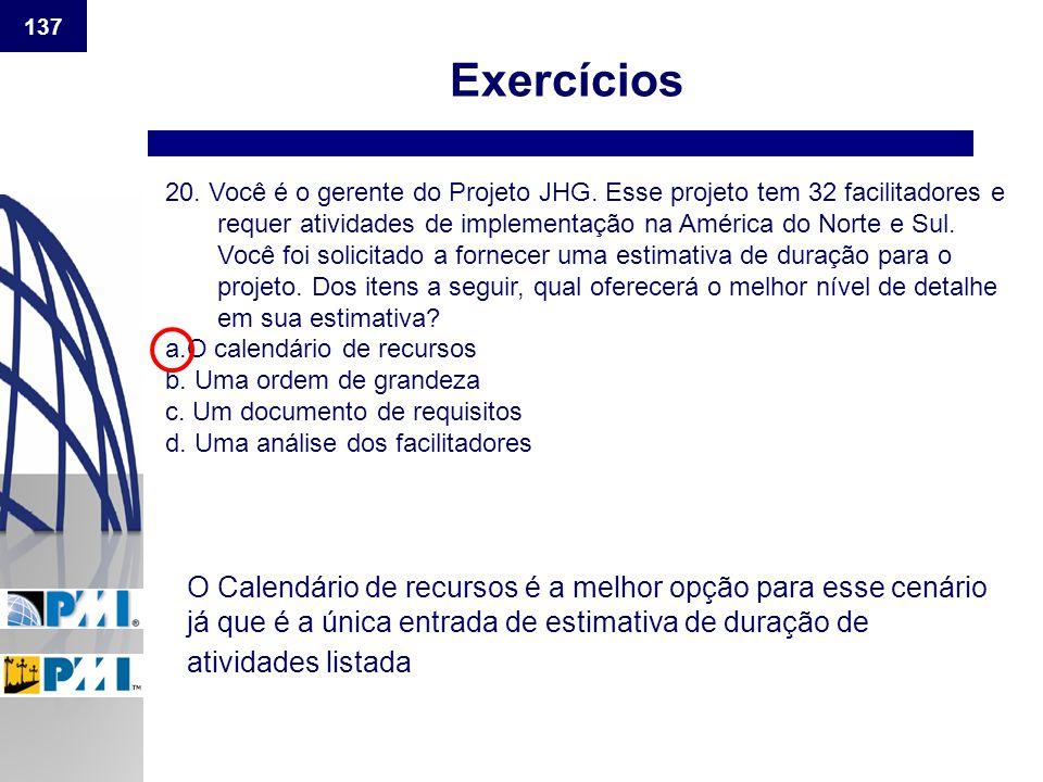 137 Exercícios.