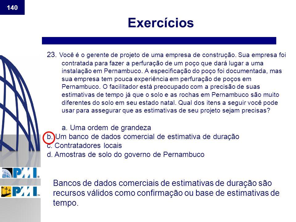 140 Exercícios.