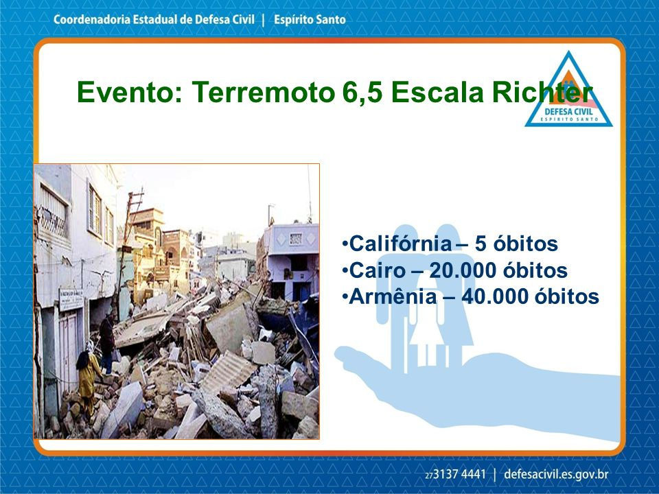 Evento: Terremoto 6,5 Escala Richter