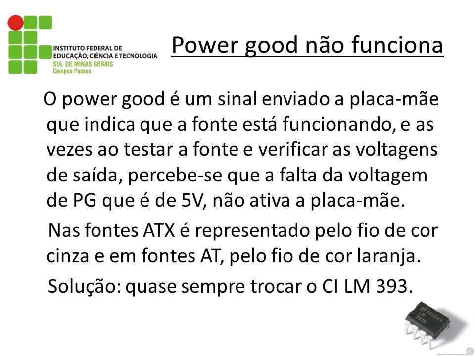 Power good não funciona