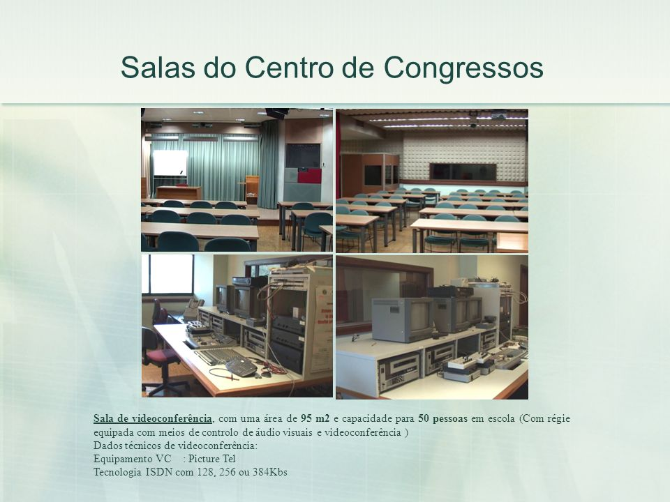 Salas do Centro de Congressos