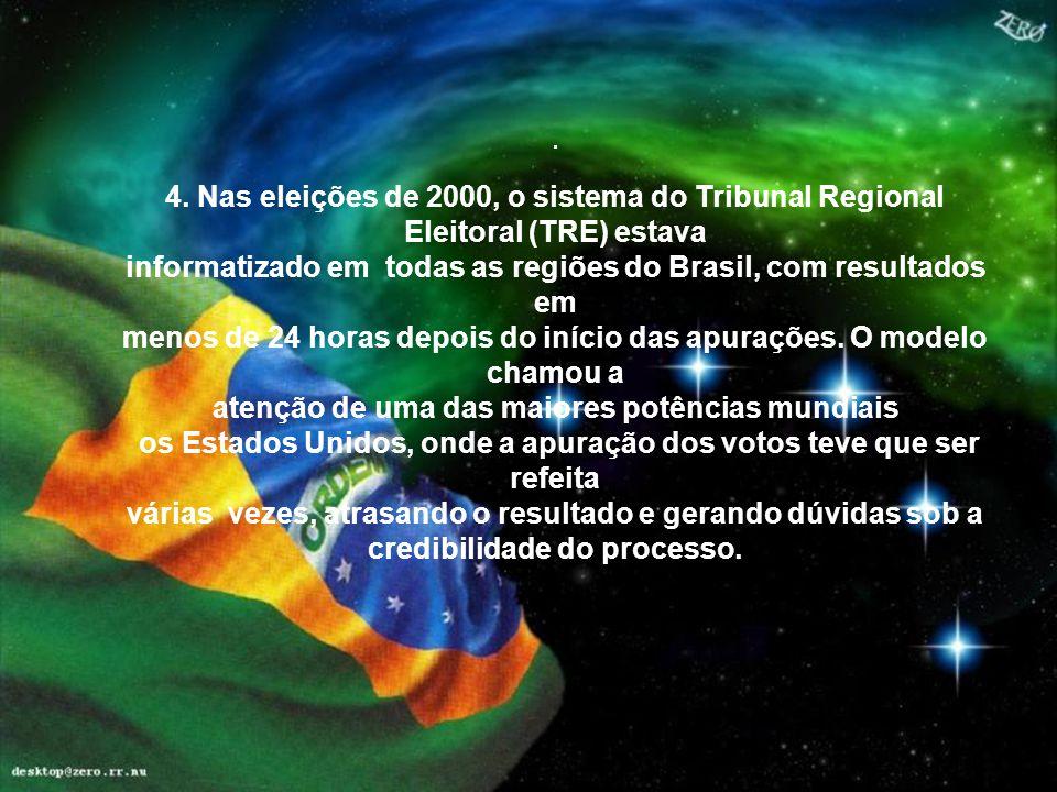 informatizado em todas as regiões do Brasil, com resultados em