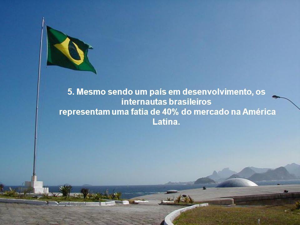 5. Mesmo sendo um país em desenvolvimento, os internautas brasileiros
