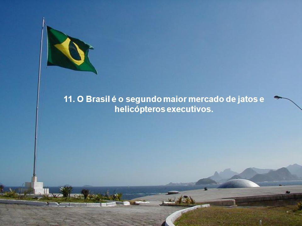 11. O Brasil é o segundo maior mercado de jatos e helicópteros executivos.