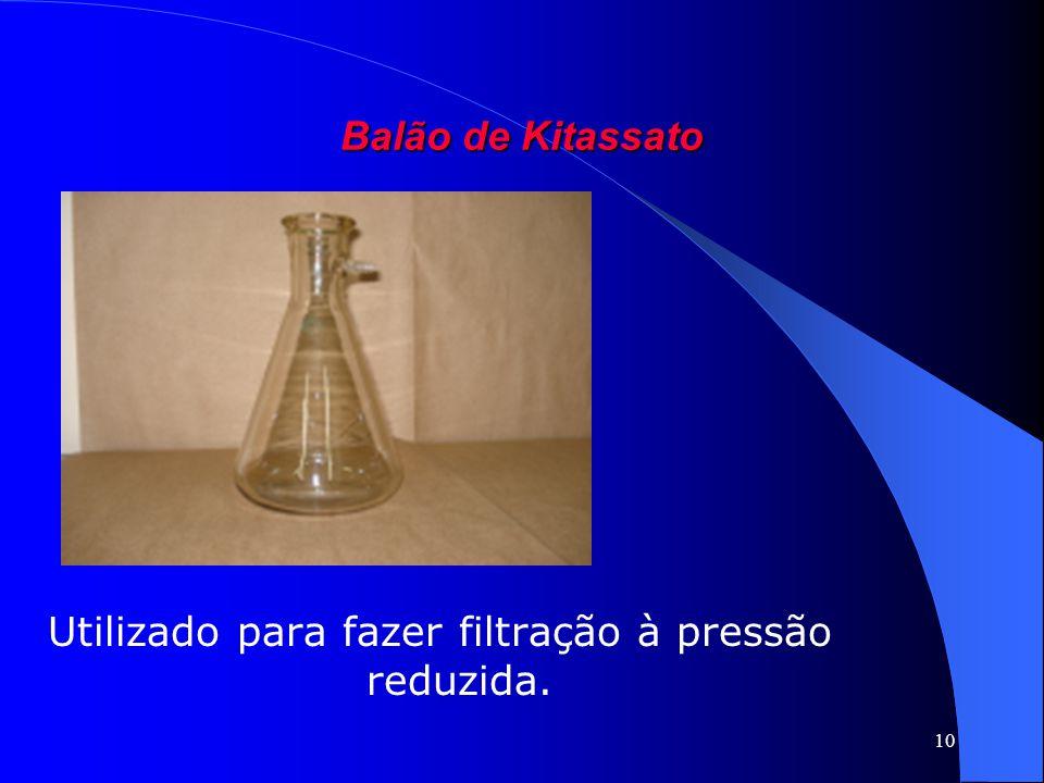 Utilizado para fazer filtração à pressão reduzida.