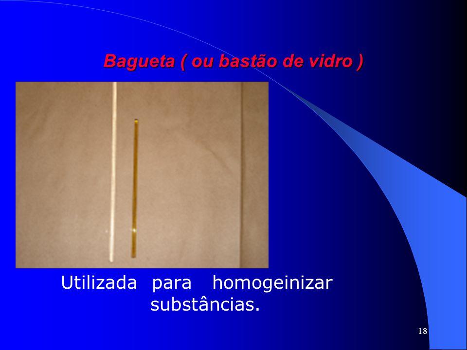 Bagueta ( ou bastão de vidro )