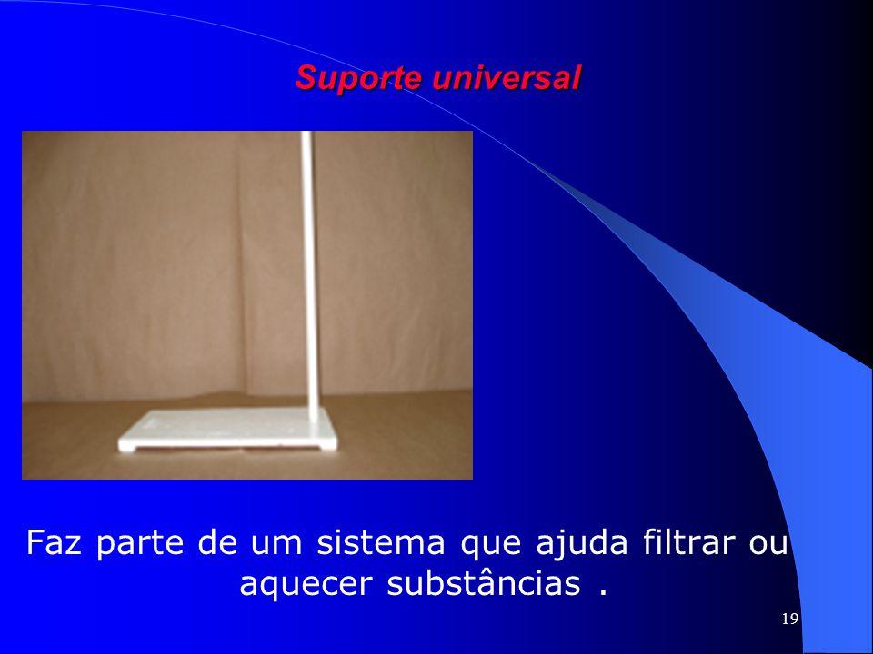 Faz parte de um sistema que ajuda filtrar ou aquecer substâncias .