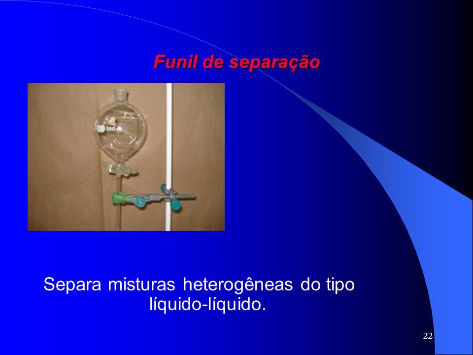 Separa misturas heterogêneas do tipo líquido-líquido.