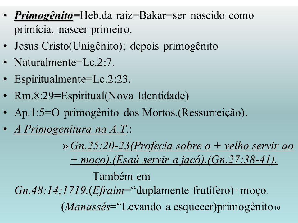 Jesus Cristo(Unigênito); depois primogênito Naturalmente=Lc.2:7.