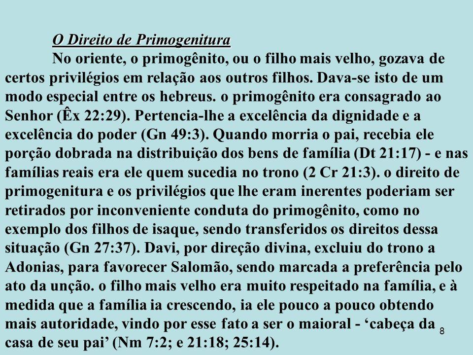 O Direito de Primogenitura