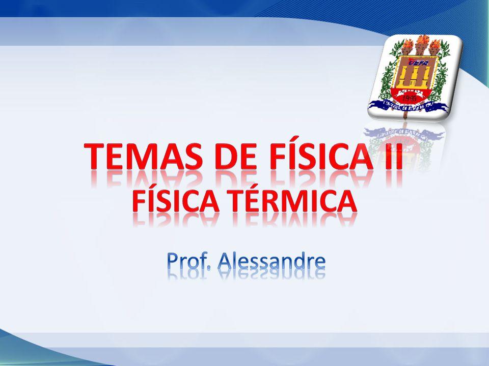 Temas de física II FÍSICA TÉRMICA Prof. Alessandre