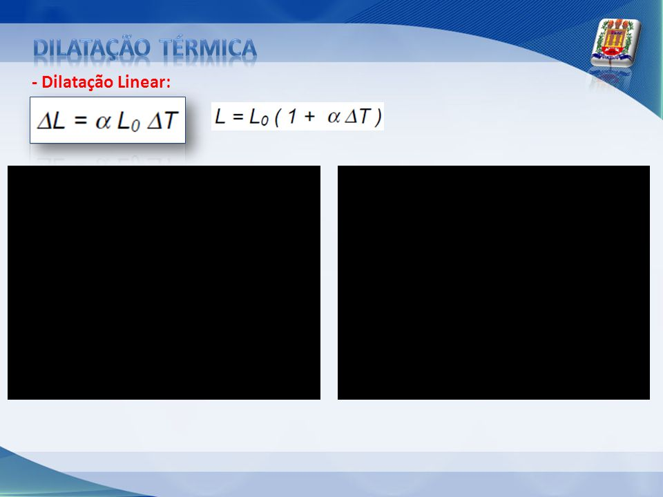 Dilatação térmica - Dilatação Linear: