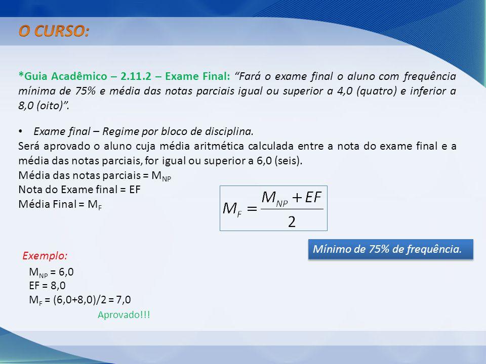 O CURSO: