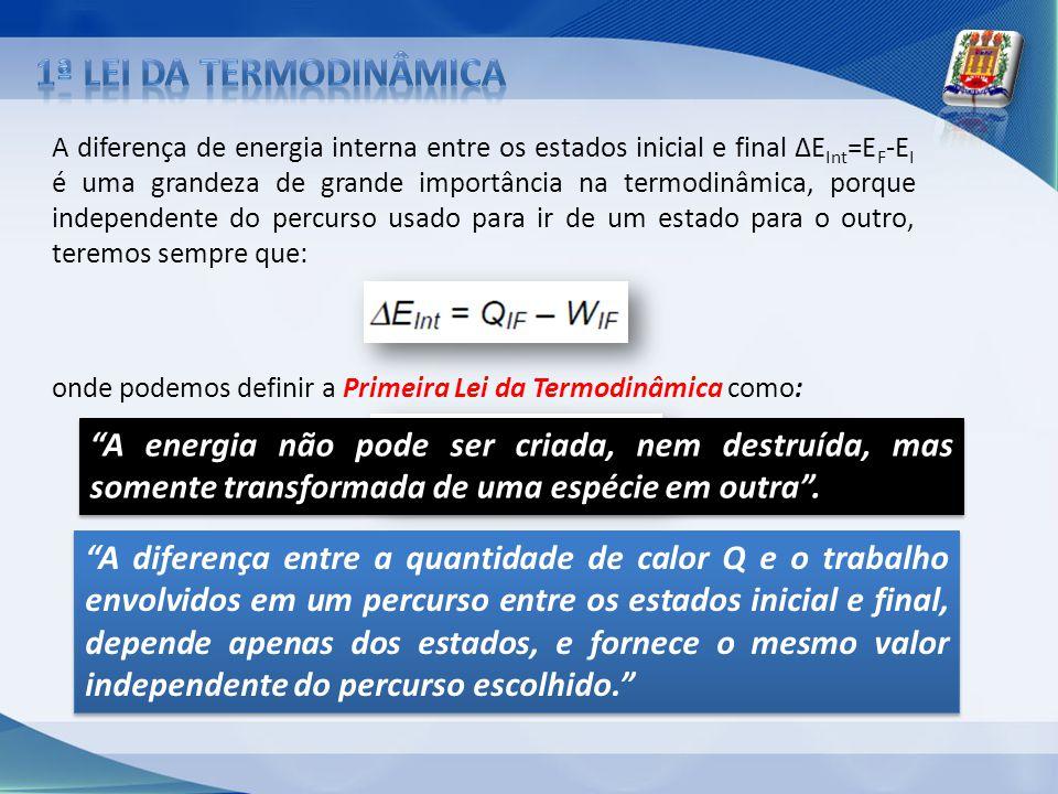 1ª lei da termodinâmica