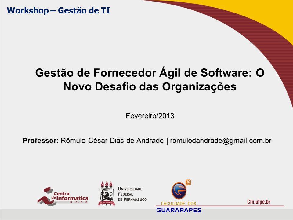 Gestão de Fornecedor Ágil de Software: O Novo Desafio das Organizações