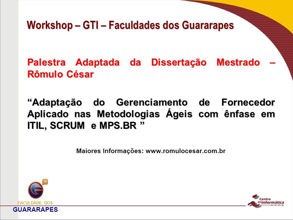 Workshop – GTI – Faculdades dos Guararapes