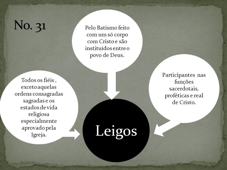 Participantes nas funções sacerdotais, proféticas e real de Cristo.