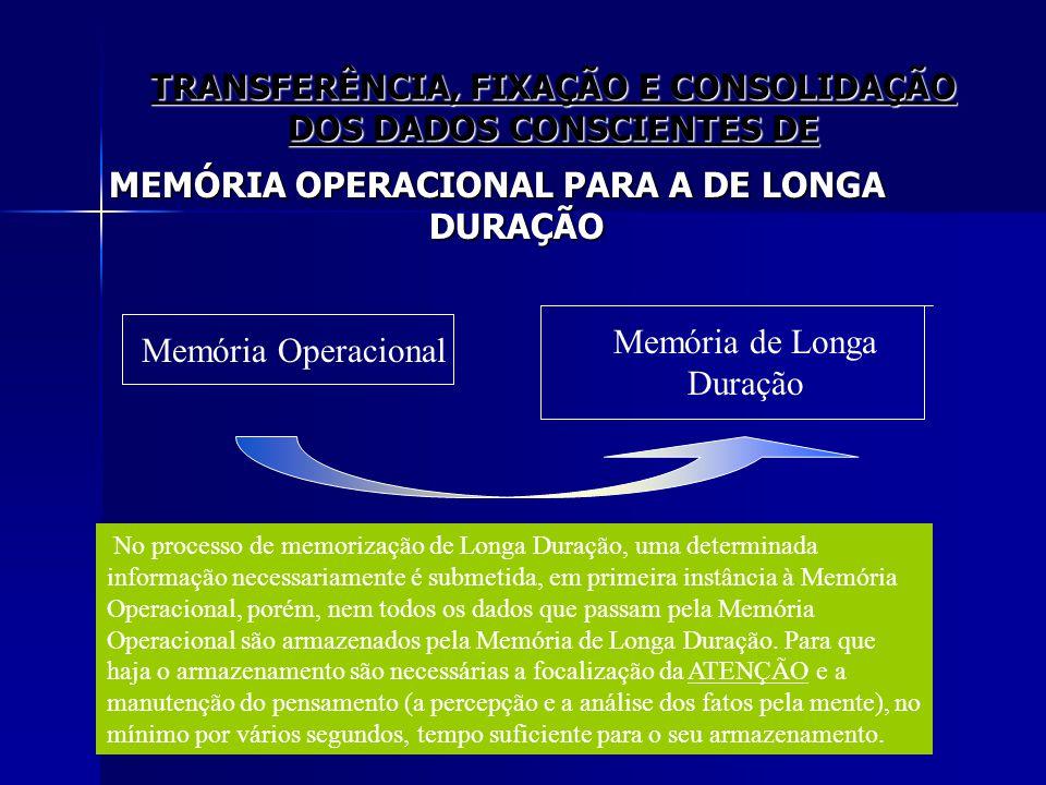 TRANSFERÊNCIA, FIXAÇÃO E CONSOLIDAÇÃO DOS DADOS CONSCIENTES DE
