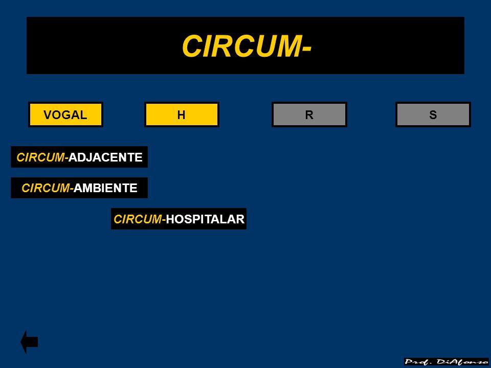 CIRCUM- VOGAL VOGAL H H R S CIRCUM-ADJACENTE CIRCUM-AMBIENTE