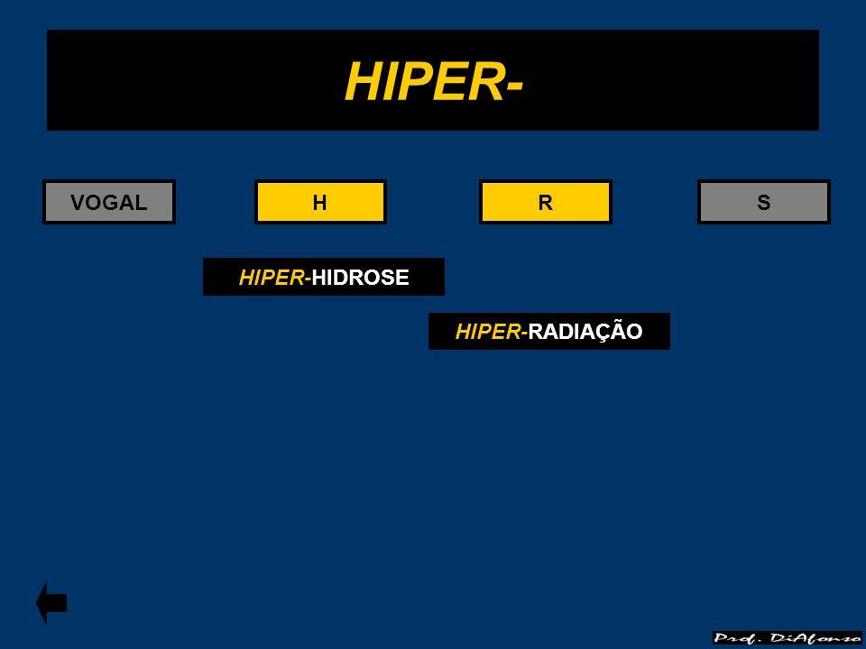 HIPER- VOGAL H H R R S HIPER-HIDROSE HIPER-RADIAÇÃO